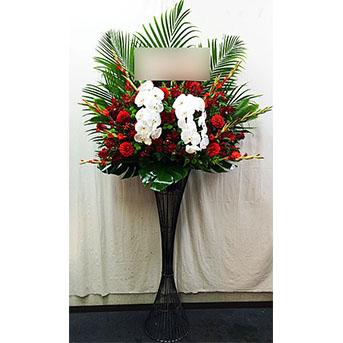 [屋内専用]胡蝶蘭の豪華なスタンド花