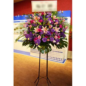 トルコキキョウとユリのスタンド花