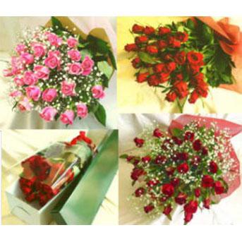 バラの花束 ショートタイプ(50CM)
