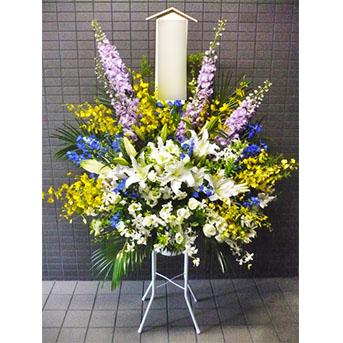 町屋斎場へ生花の配達 洋花タイプ seika20y