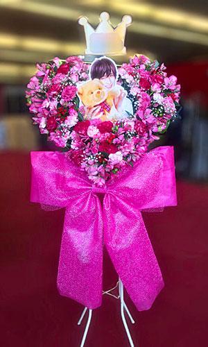 スタンド花 ハートのスタンド花 神奈川県民ホール