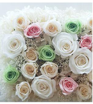 プリザーブドフラワー 白バラ