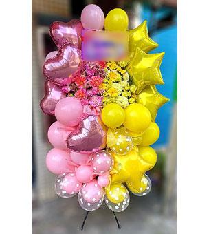 バルーン スタンド花 お好きな色を2色組み合わせて