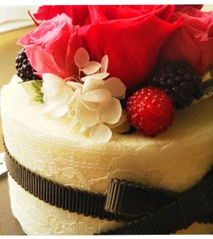 ケーキのようなプリザーブドフラワー